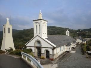 世界遺産候補の出津教会(外海町)