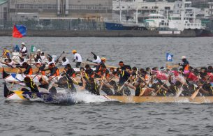 2013.7.28 長崎ペーロン選手権大会(福田西部初優勝)